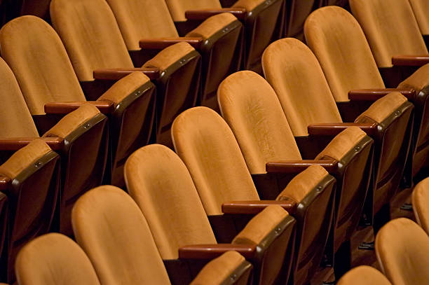 Symphony Seats Empty auditorium seats await the audience aegis stock pictures, royalty-free photos & images