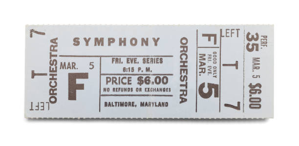 symphony ticket - ticket stock photos and pictures
