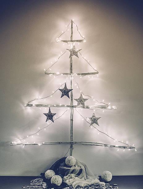 Symple Christmas Tree in Scandinavian Style stock photo