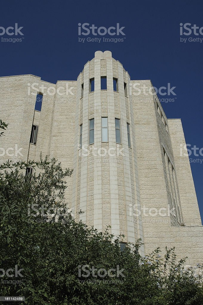 synagogue by day stock photo