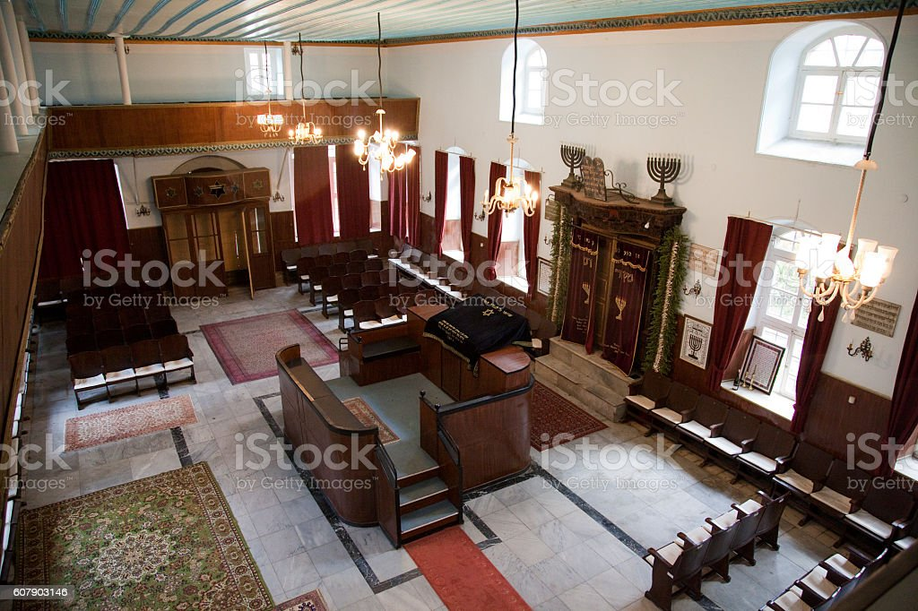 Synagogue from Canakkale. stock photo