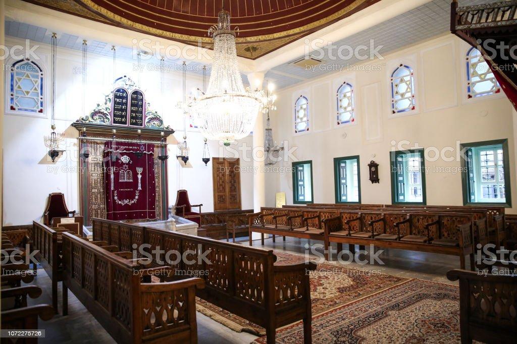Sinagog on emir ve Yedi Kollu Şamdan stok fotoğrafı
