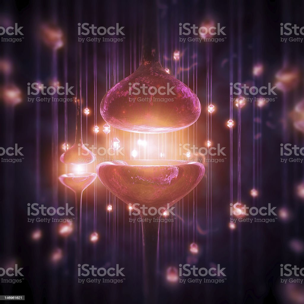 Synapse lights stock photo