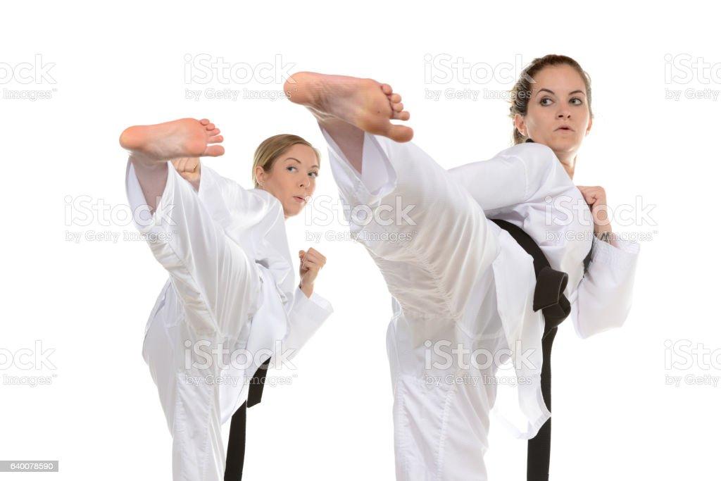 Synchronized Self-Defense stock photo