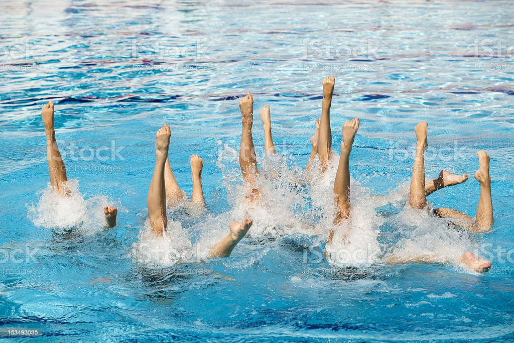 Synchronized swimming royalty-free stock photo