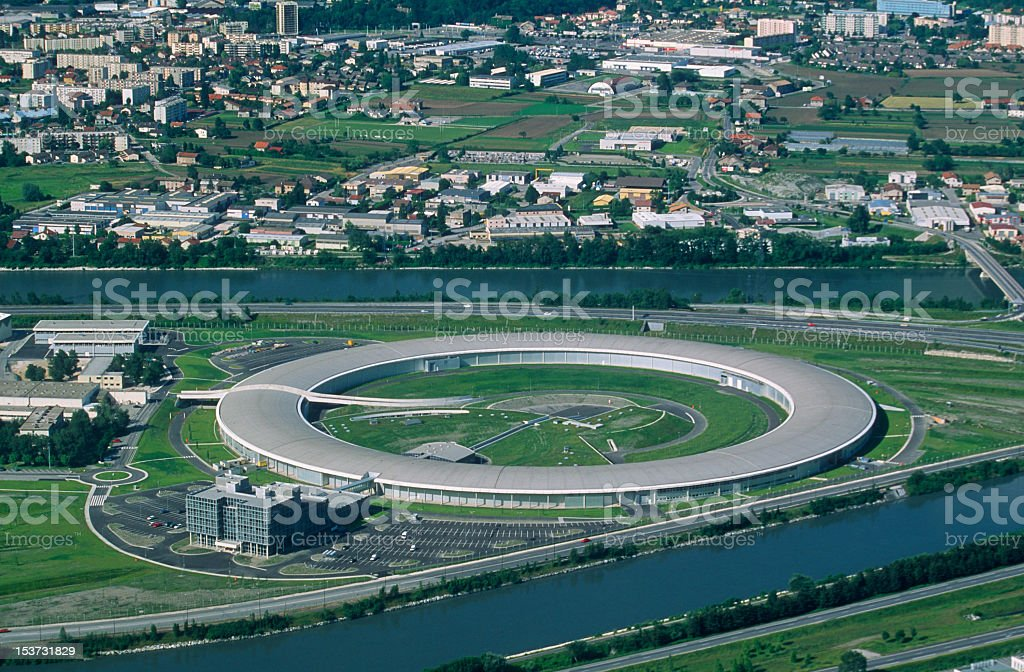 Synchrotron of Grenoble royalty-free stock photo