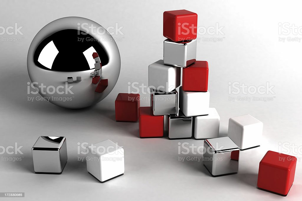 Synergy business abstract royalty-free stock photo