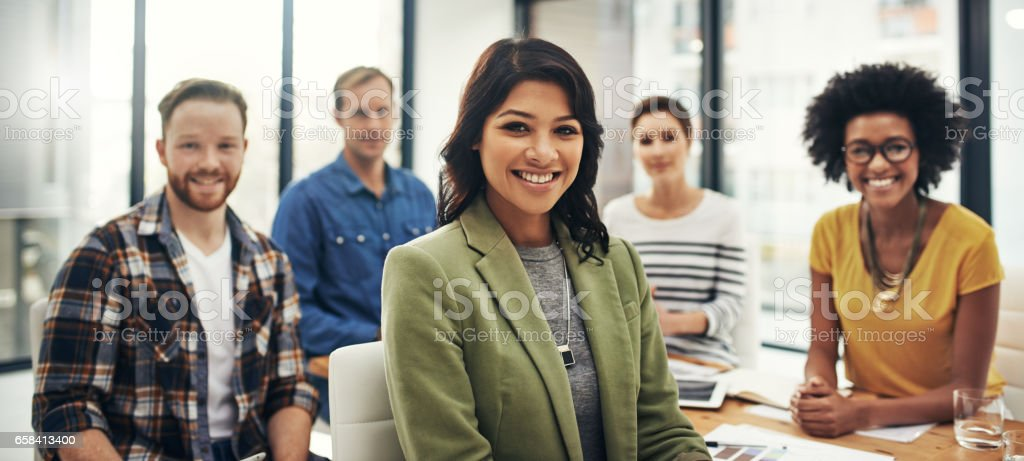 Synergy is our secret to success stock photo