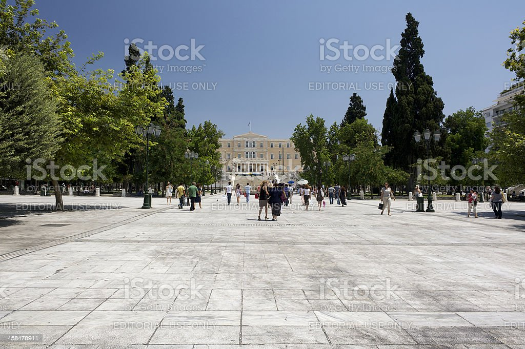Syntagma Square, Athens, Greece at noon in summer stock photo