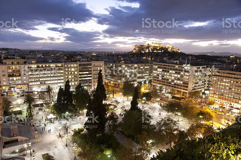 Syntagma Square, Athens, Greece royalty-free stock photo