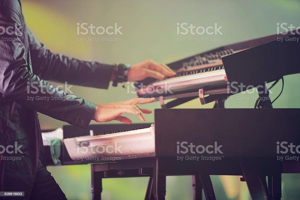 Synthesized sounds stock photo