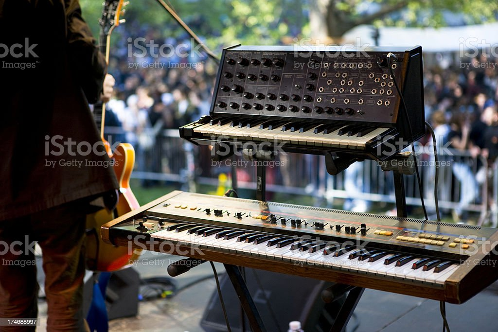 Synthesizer on stage royalty-free stock photo