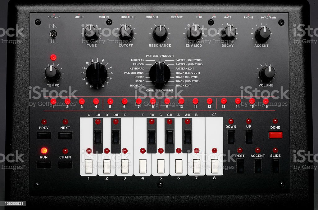 Synthesizer royalty-free stock photo
