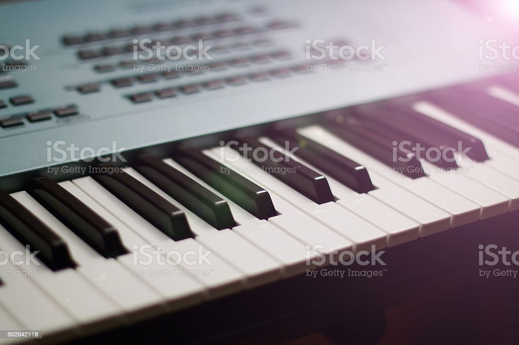 Synthesizer stock photo