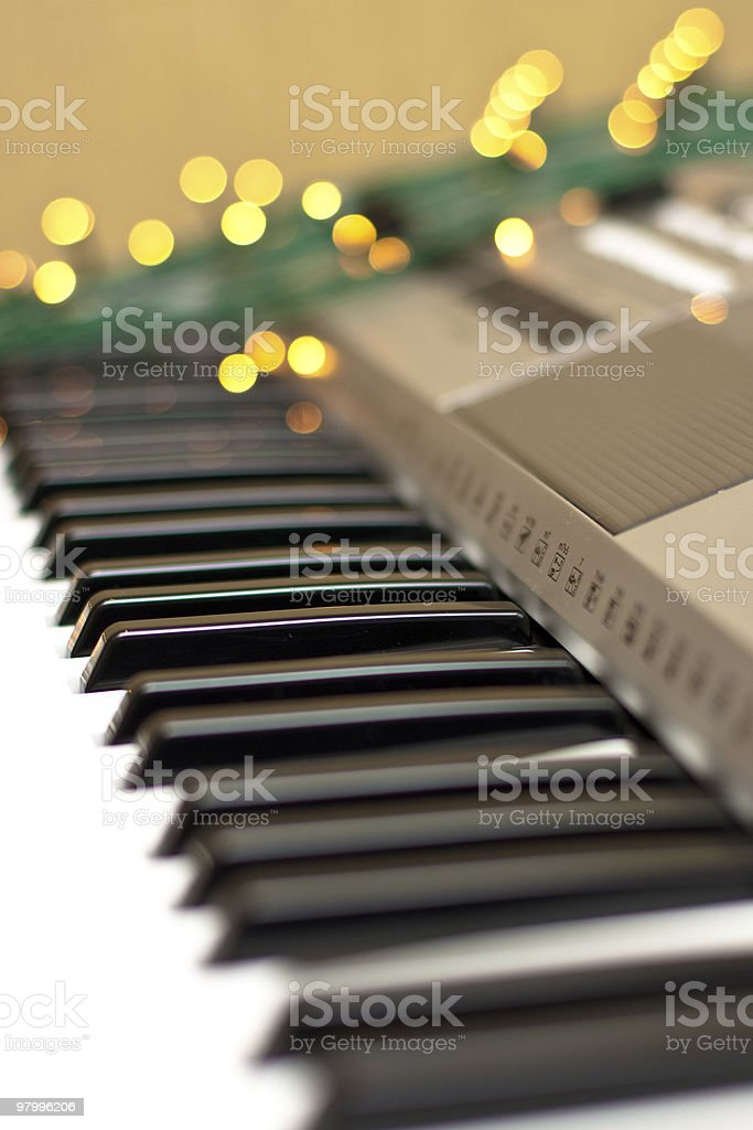 Synthesizer with lights royalty free stockfoto