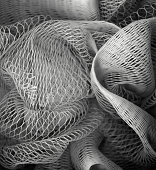 Synthetic fibres - close-up, textured background