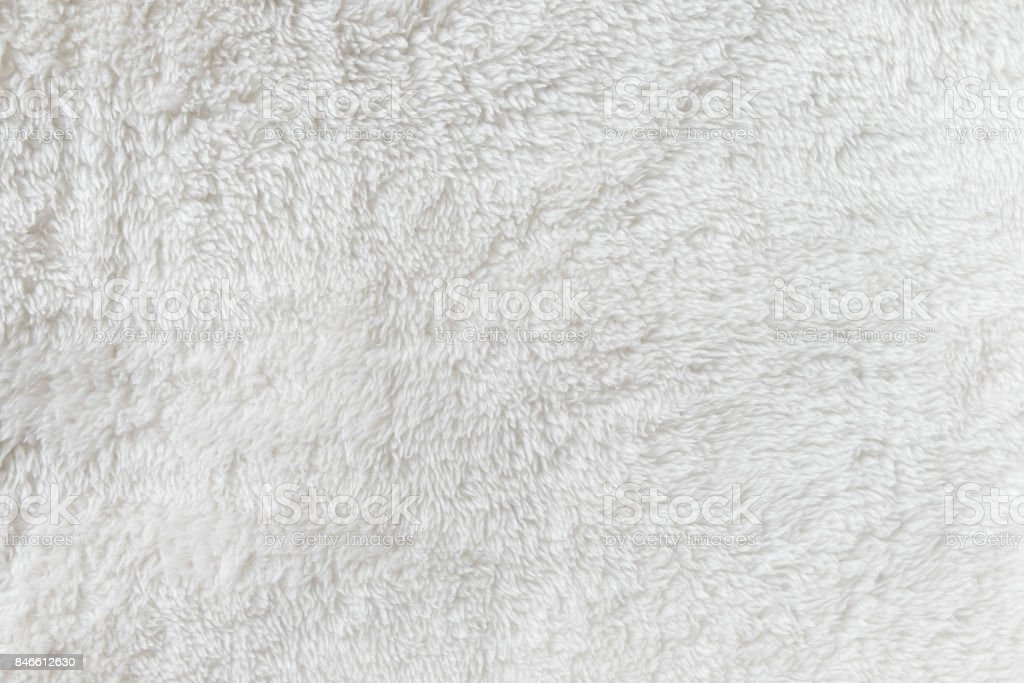Synthetic fur white texture for the background stock photo