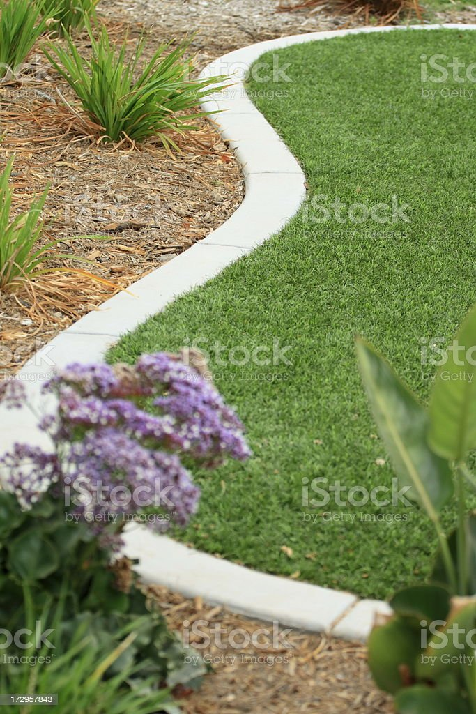 Synthetic Lawn--Shallow DOF royalty-free stock photo