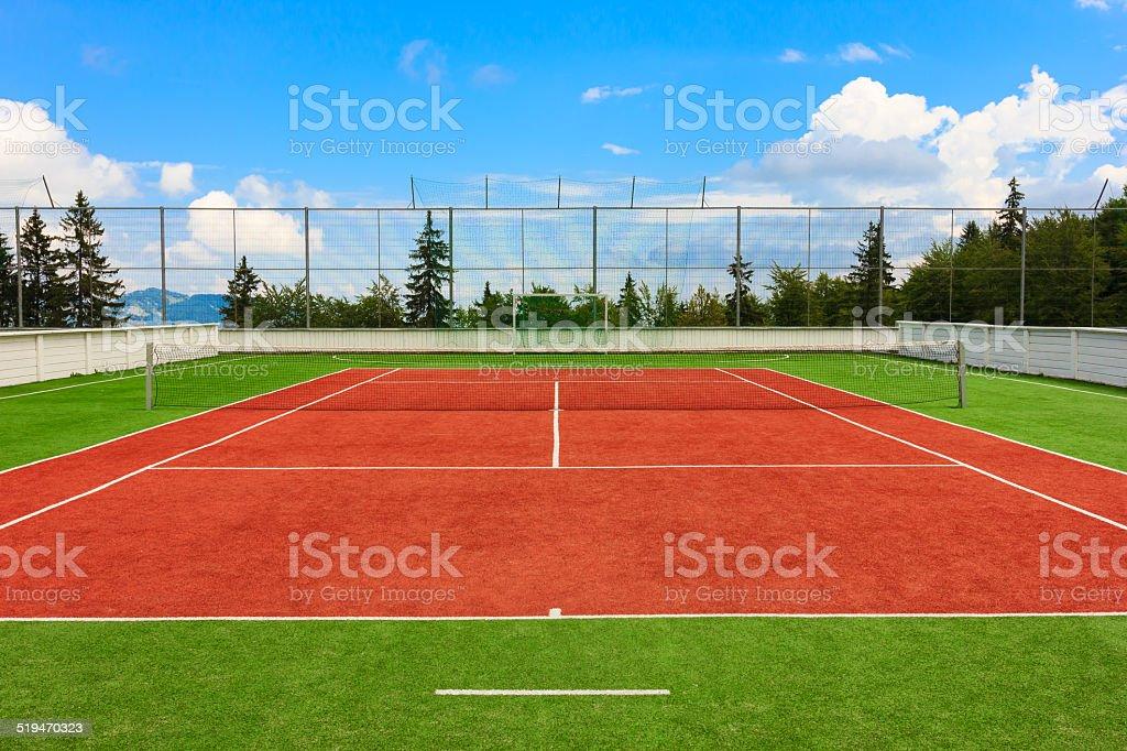 Synthetik-Tennisplatz im Freien – Foto