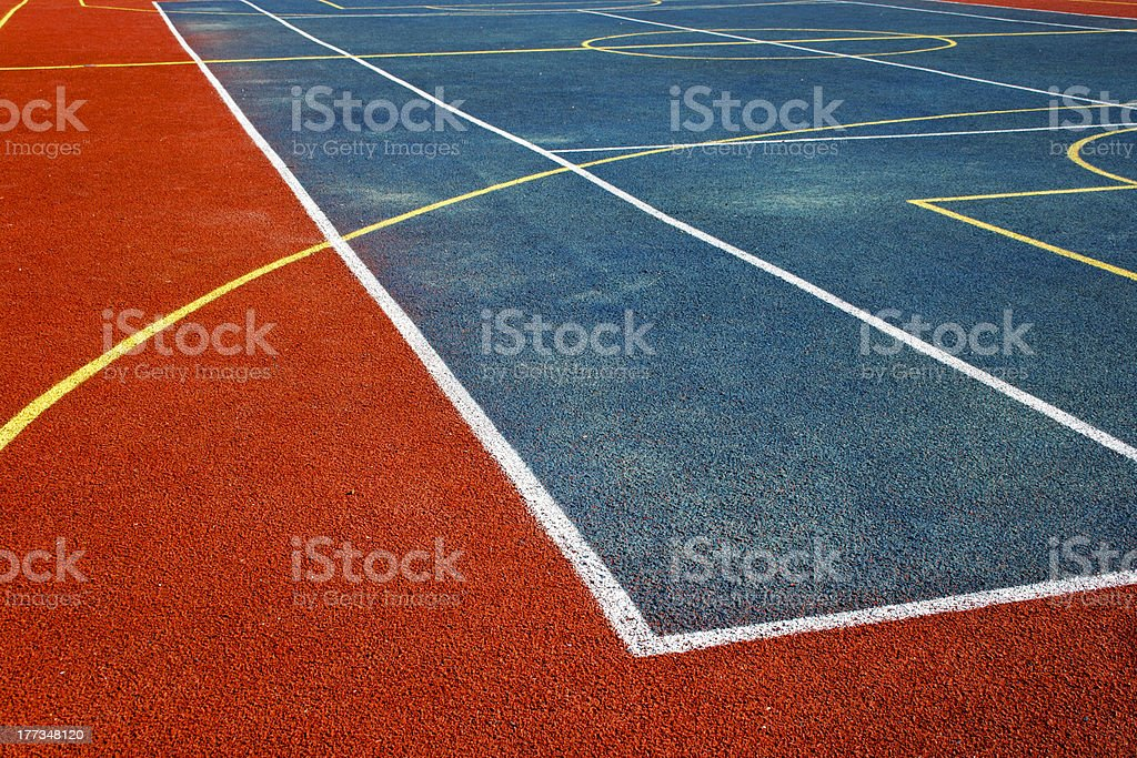 Synthetic sports field 2 royalty-free stock photo