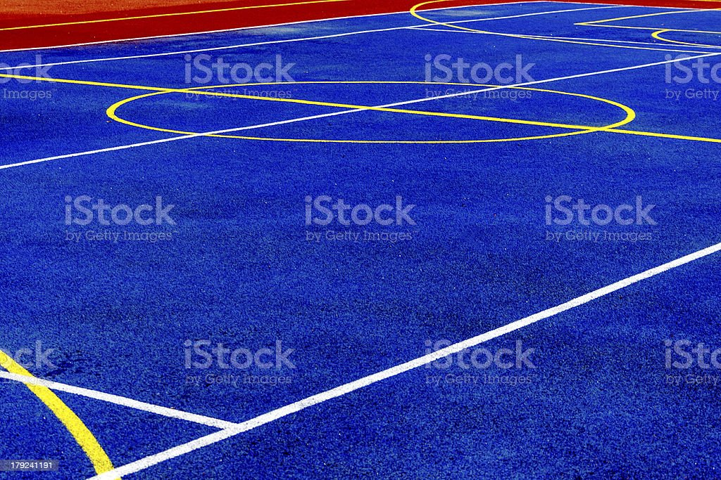 Synthetic sports field royalty-free stock photo