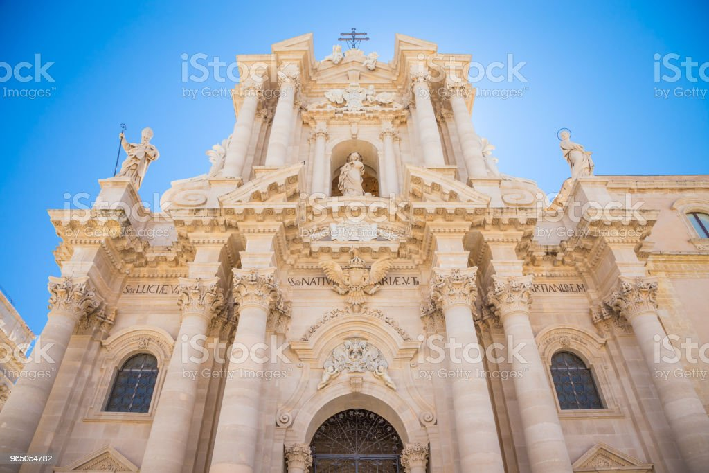 Duomo di Siracusa (Syracuse Cathedral) royalty-free stock photo