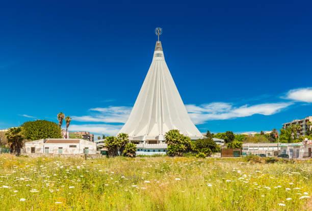 Syracuse, Italy: The building of The Santuario della Madonna delle Lacrime (Our Lady of Tears) stock photo