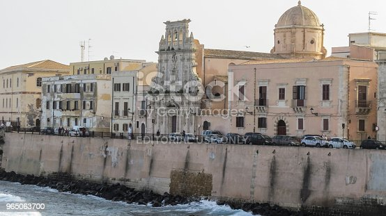 Syracuse Ortygia Sicily Italy Stock Photo & More Pictures of Architecture
