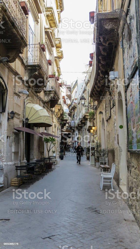 Syracuse, Ortygia, Sicily, Italy zbiór zdjęć royalty-free
