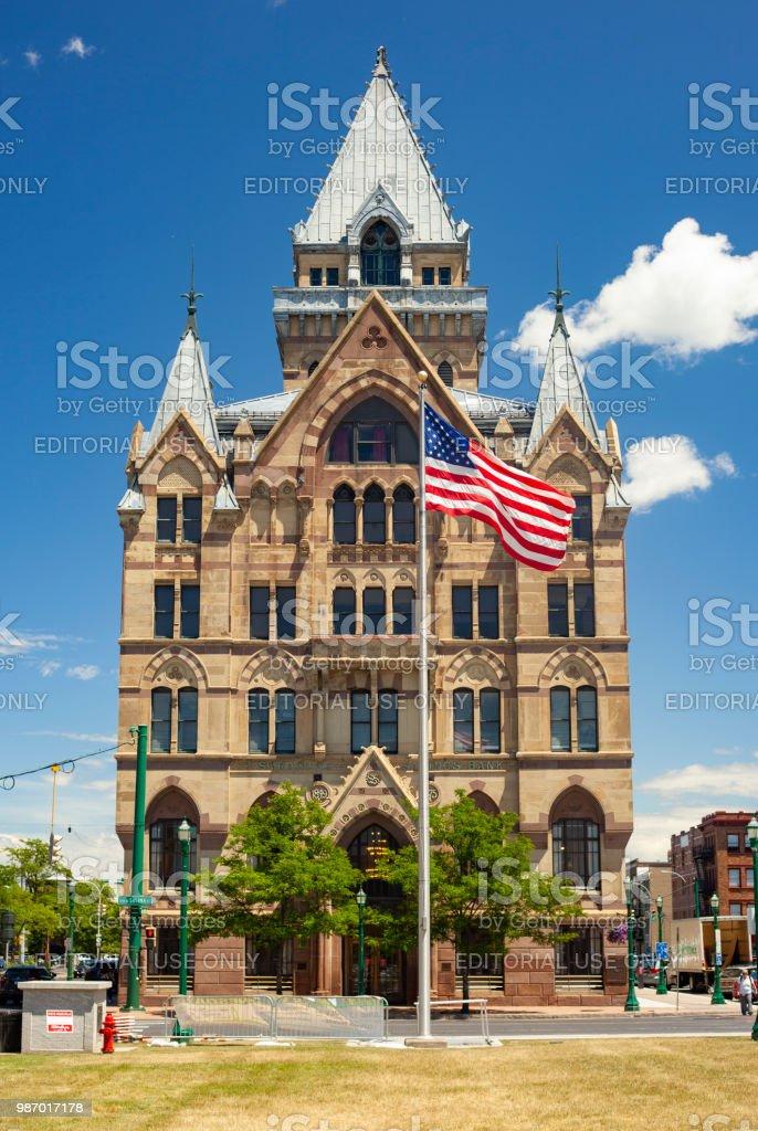 Syracuse Savings Bank In Downtown Syracuse, New York stock photo