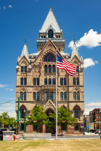 Syracuse Savings Bank In Downtown Syracuse, New York stock photo