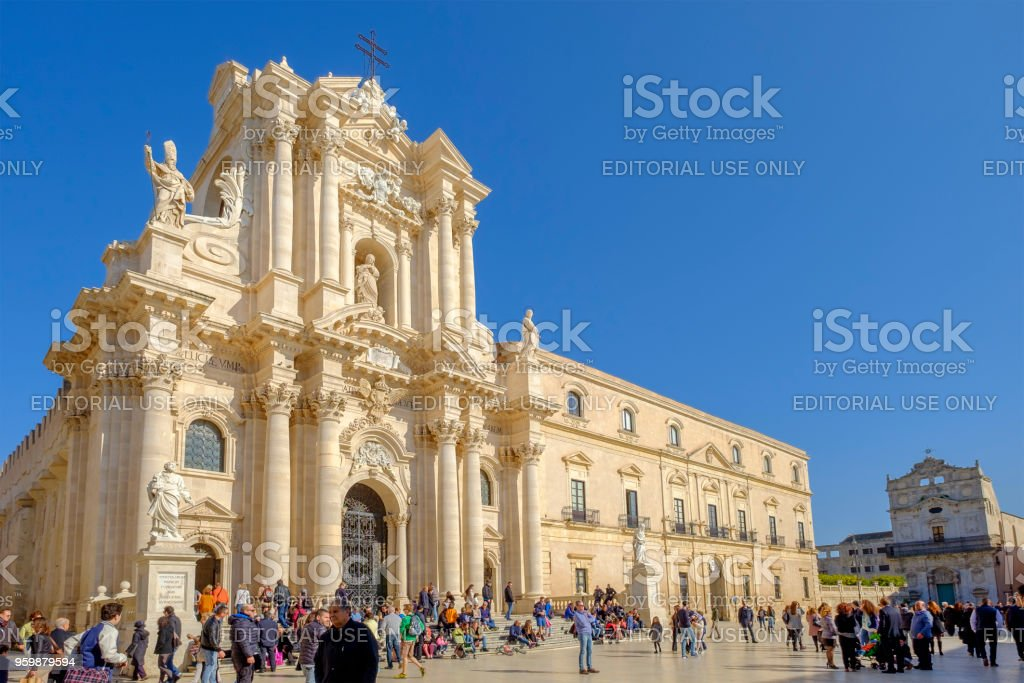 Syracuse, the Cathedral (Sicily, Italy) stock photo