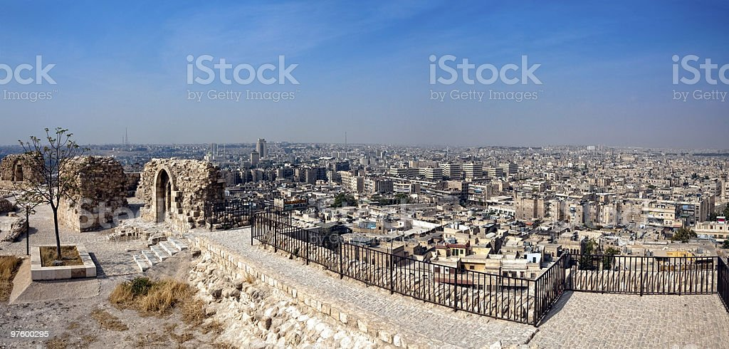 Syria - Aleppo, citadel royalty-free stock photo