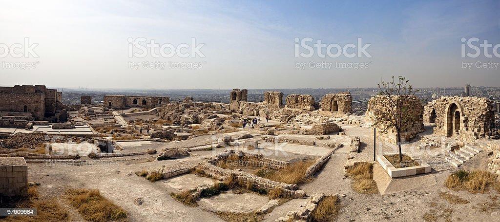 Syria - Aleppo, citadel royaltyfri bildbanksbilder