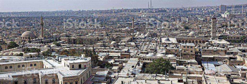 Syria - Aleppo, souk and Umayyad mosque royaltyfri bildbanksbilder