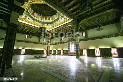 istock Syria before the war. Throne hall of the impressive medieval Citadel of Aleppo. 1150062915