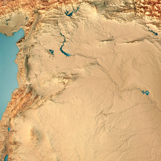 Syrian Desert Map Stock Photos, Pictures & Royalty-Free Images - iStock