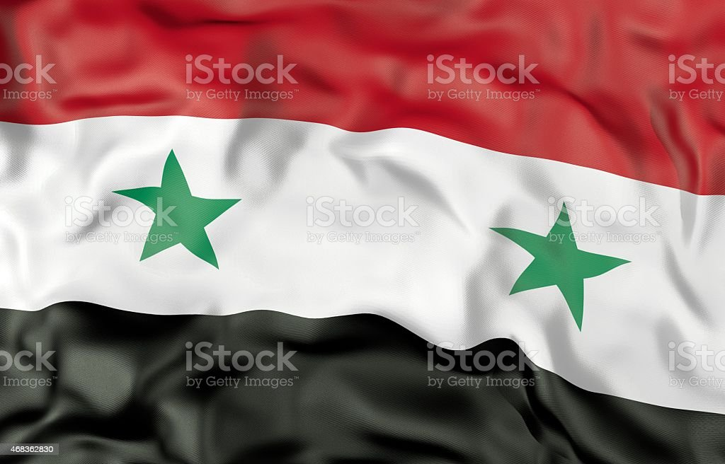 Syria flag 3d illustration royalty-free stock photo