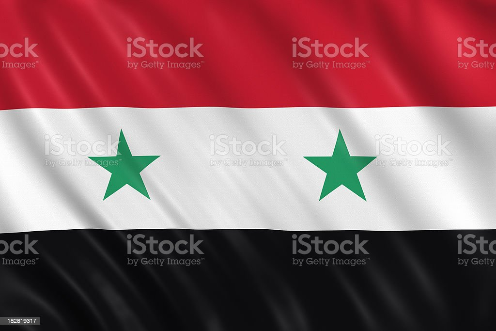 syria flag royalty-free stock photo