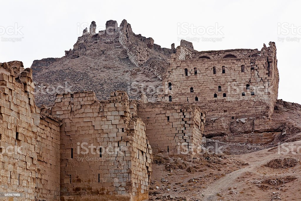 Syria - Halabia, Town of Zenobia royalty-free stock photo