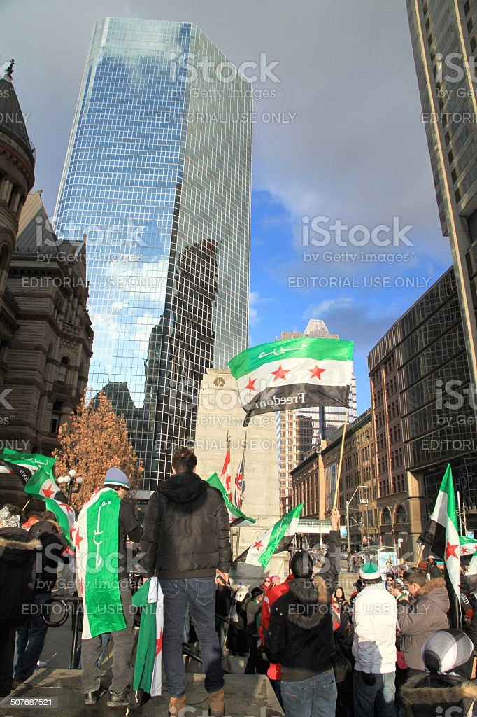 Syrian Demonstrators stock photo