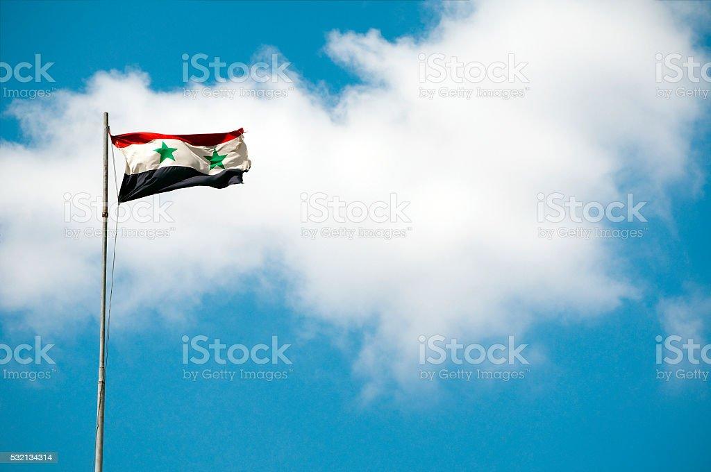 Bandera de siria en Alepo, Siria - foto de stock
