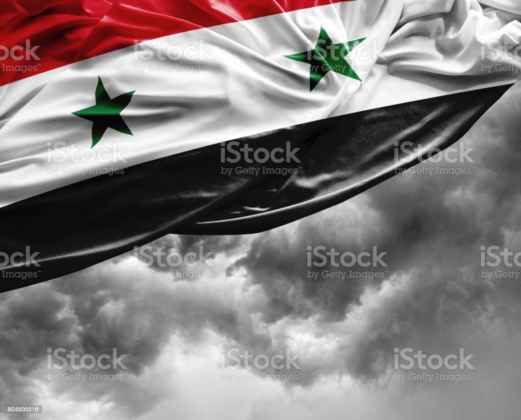 Bandera de Siria en un mal día - foto de stock