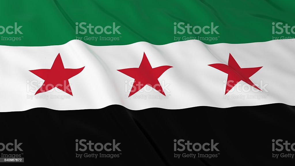 Syrian Opposition Flag HD Background - Flag of Syria - foto de stock