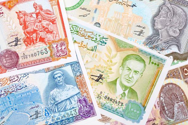 Syrisches Pfund, einen Hintergrund – Foto