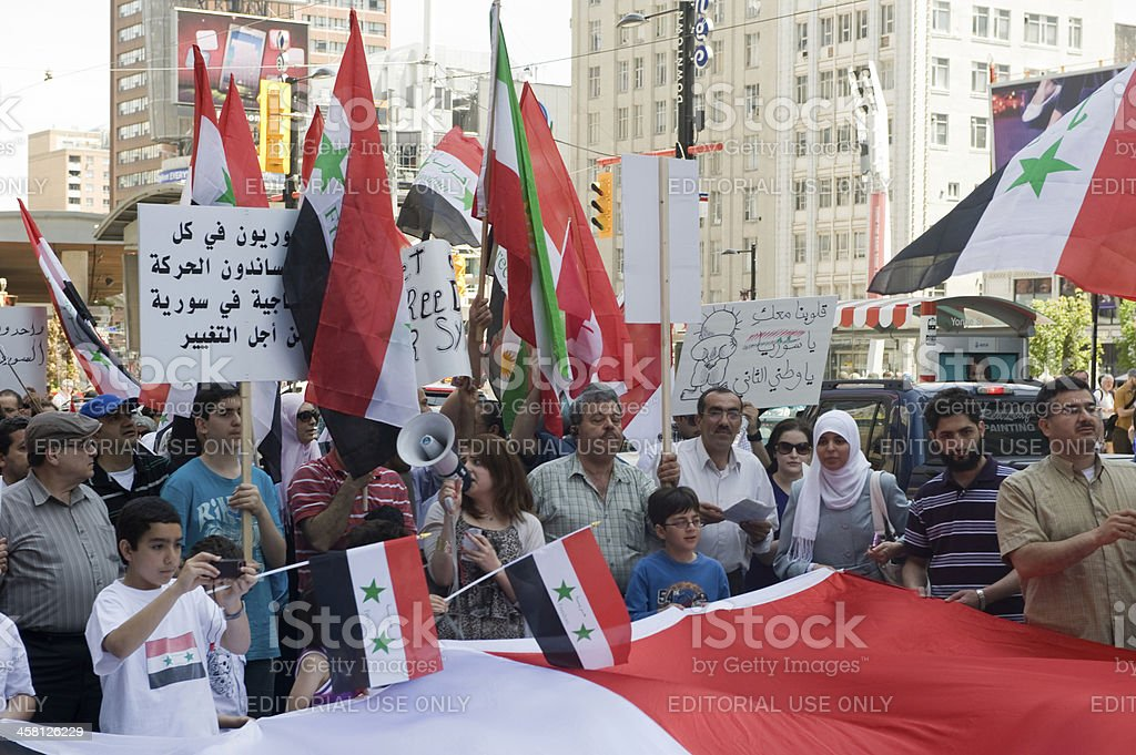 Syrian Rally in Toronto stock photo