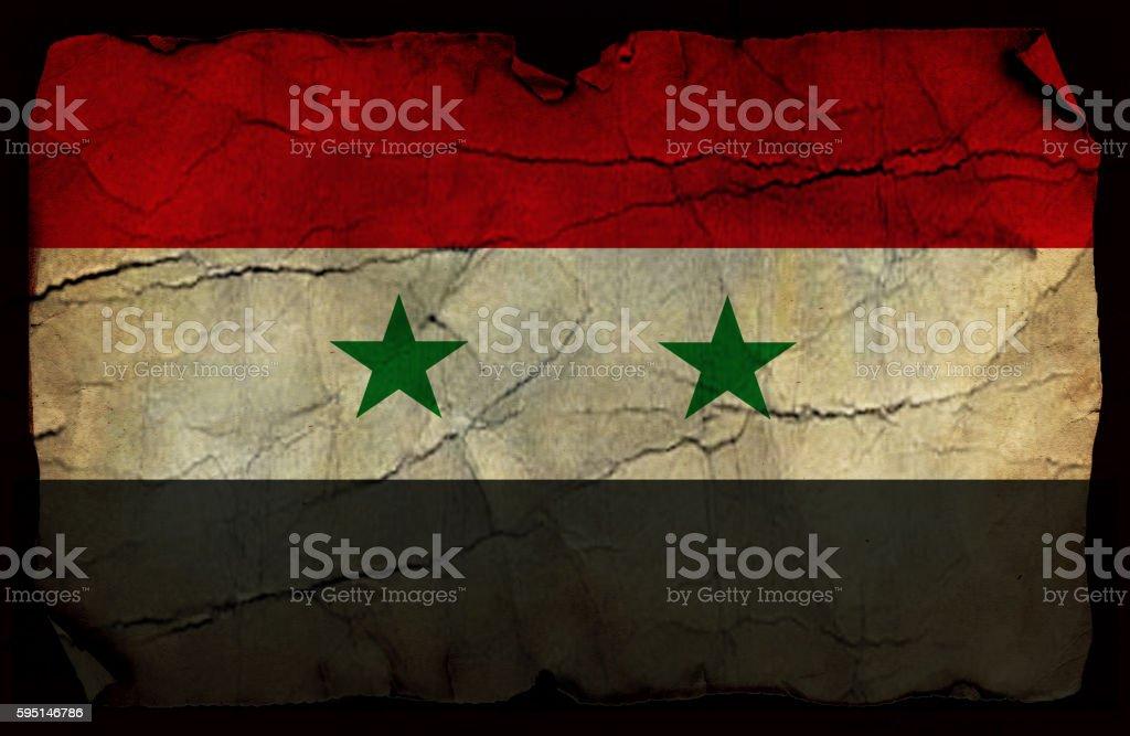 Syrian vintage Flag - foto de stock