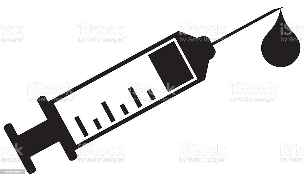 Syringe Icon Health stock photo