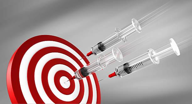 Syringe Target Darts stock photo