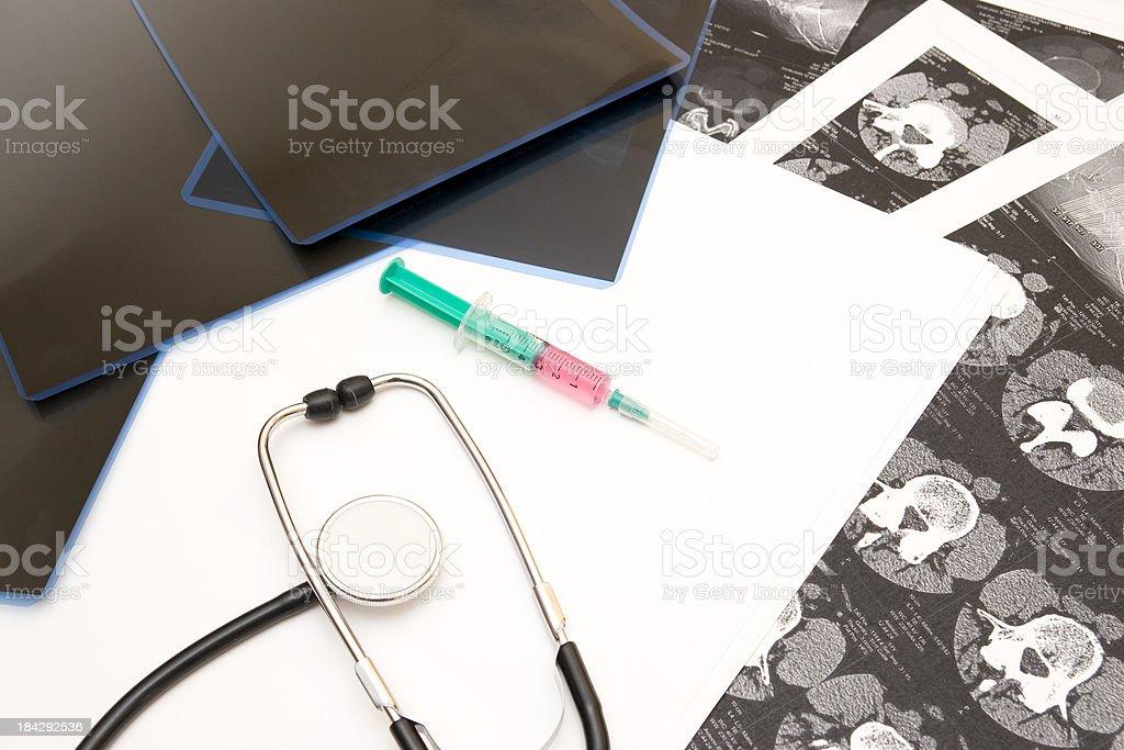 Syringe With Pain Medication royalty-free stock photo